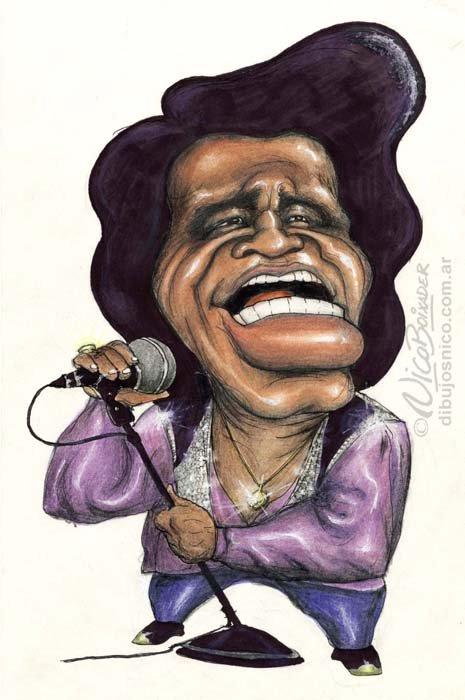 Caricatura James Brown