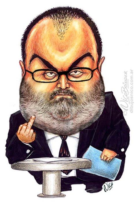 Caricatura Jorge Lanata Fuch You