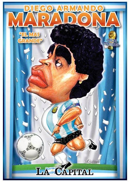 Caricatura Maradona