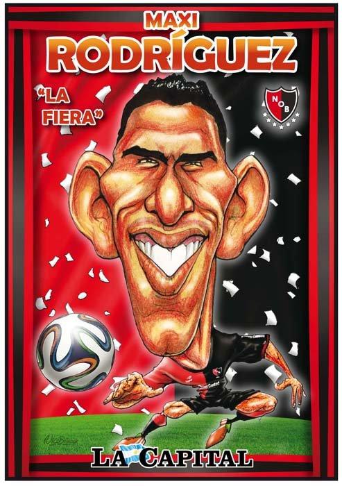 Caricatura Maxi Rodriguez