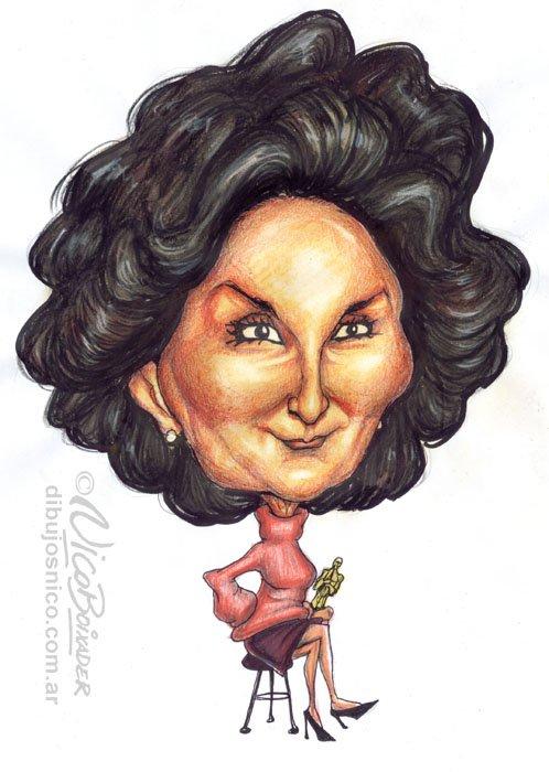 Caricatura Norma Aleandro