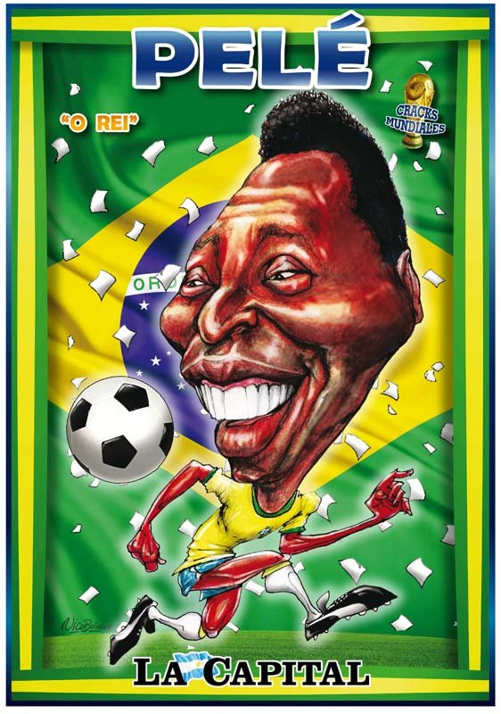 Caricatura Pelé