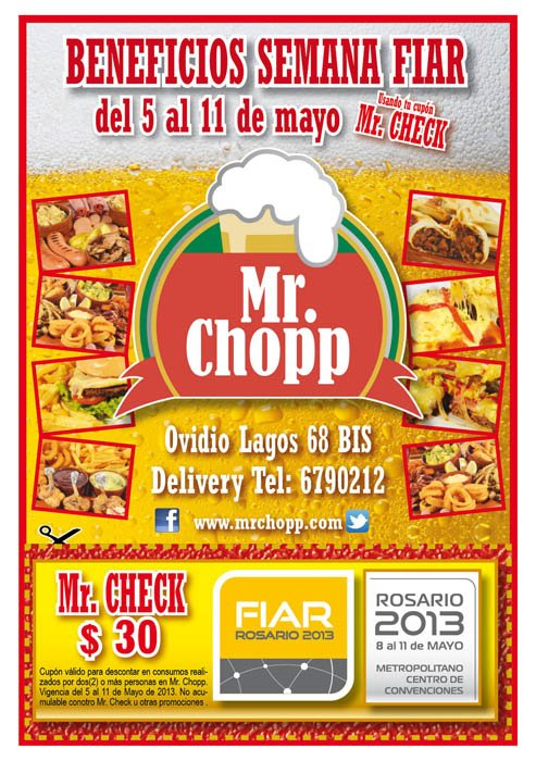 Diseño Flyer Mr. Chopp