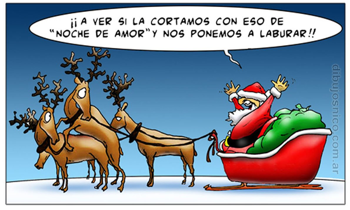 Chiste Navidad Papá Noel Humor Gráfico