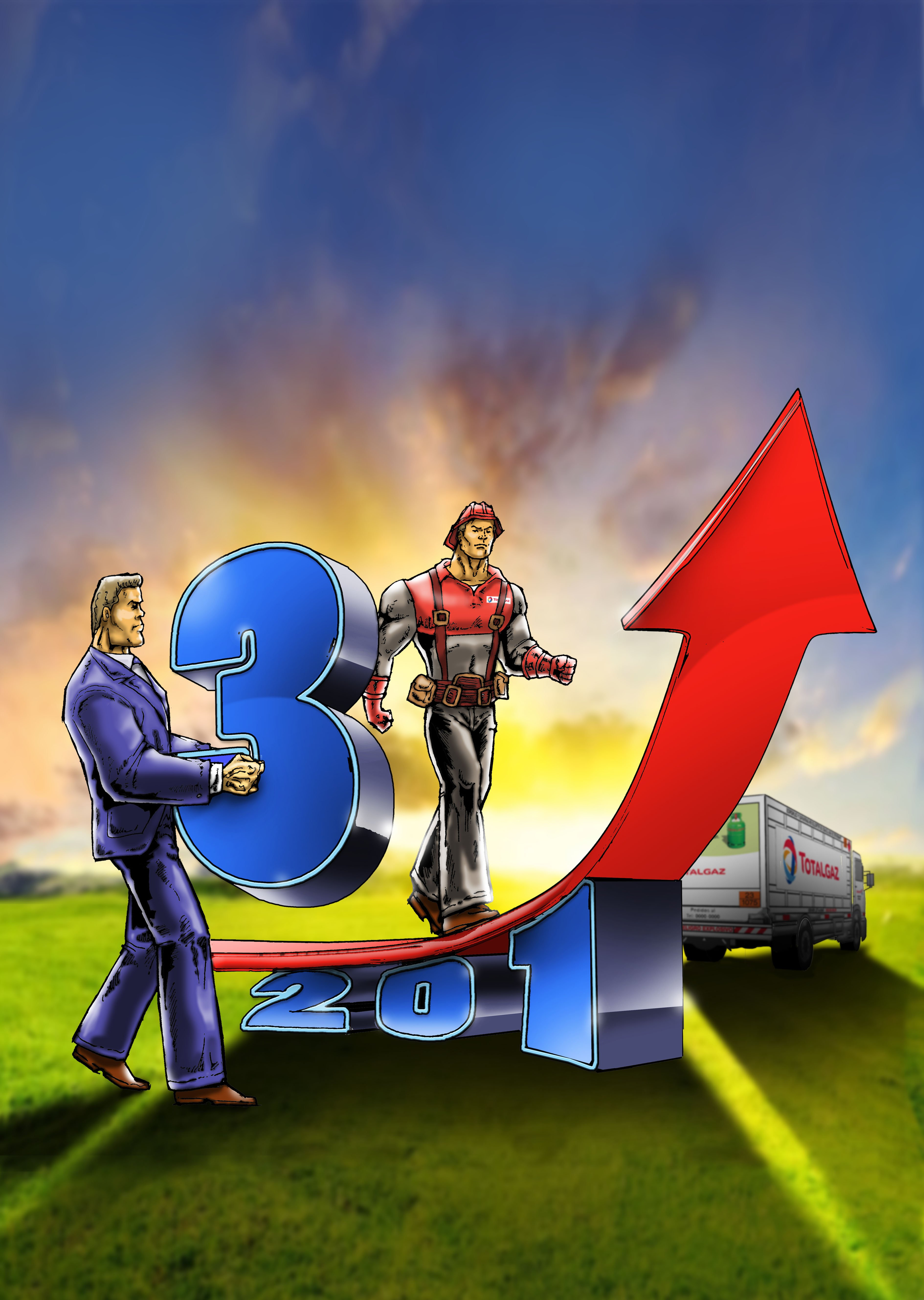 Ilustración tapa Red total 2013