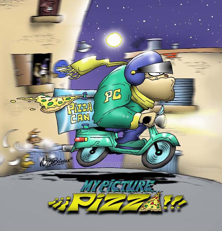 Ilustración ropa infantil MyPicture pizza