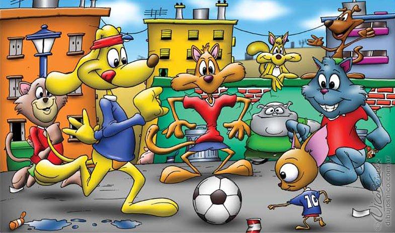 Ilustración futbol rompecabezas