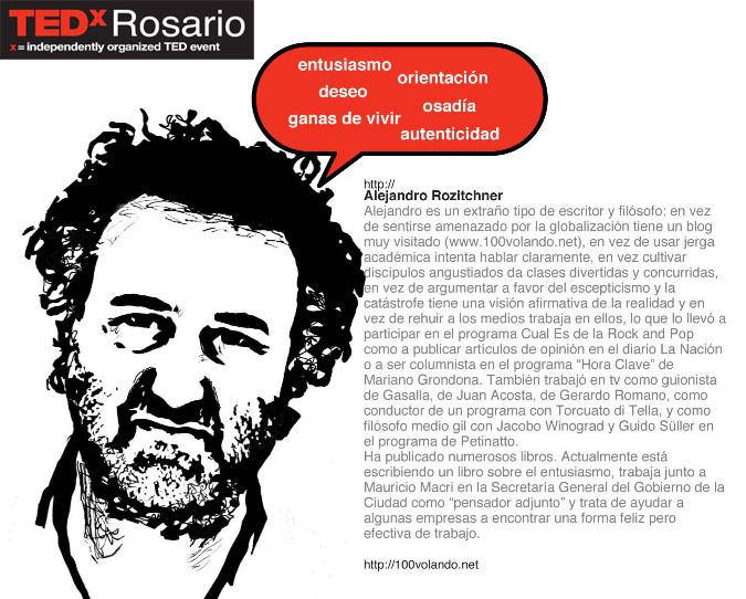 Folletería Tedx Rosario Rozitchner