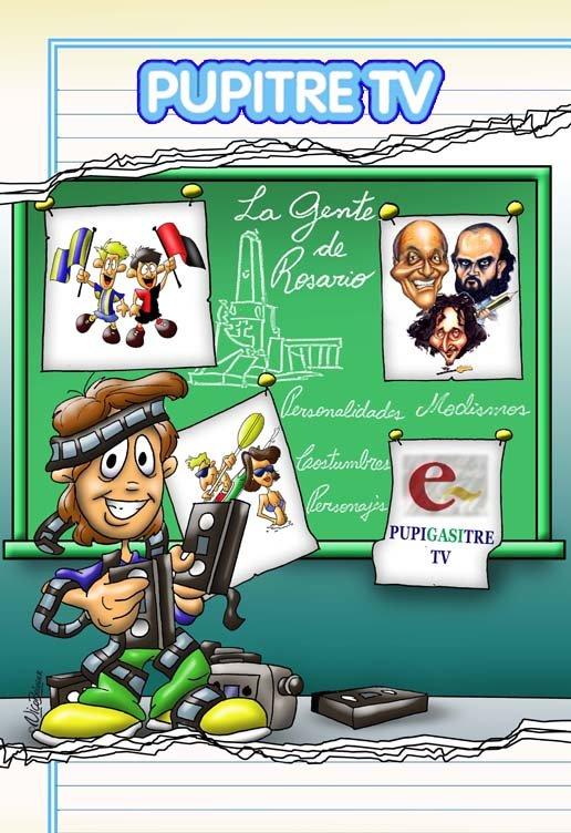 Ilustración publicitaria Pupitre TV