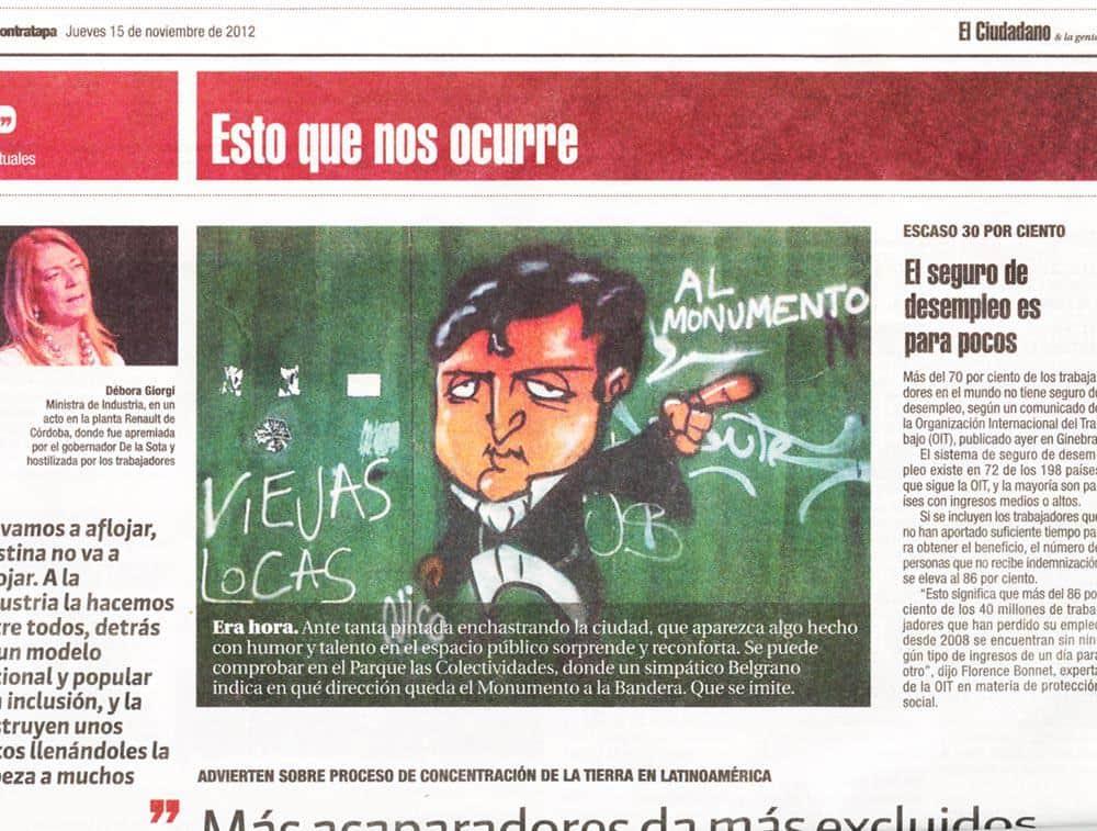 Belgrano mural nota diario El Ciudadano