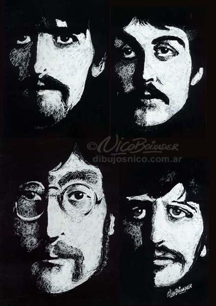 Ilustración Argentina Beatles