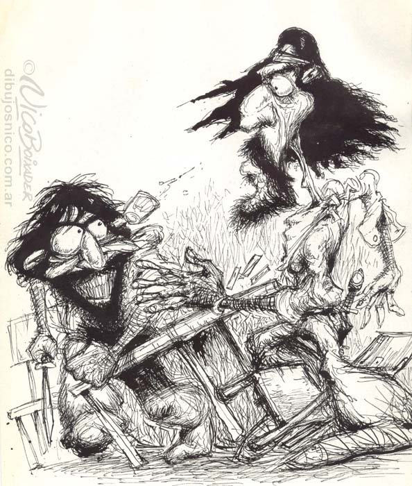 Ilustración Argentina desenfunda Gaucho
