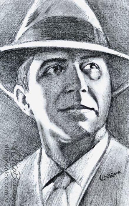 Ilustración Argentina retrato Gardel
