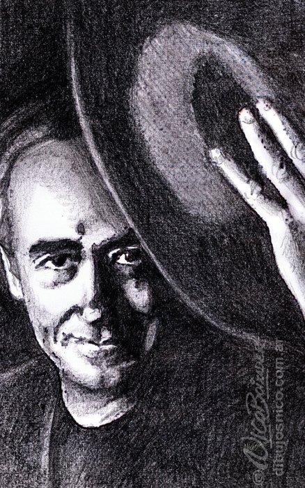 Ilustración Argentina retrato Serrat
