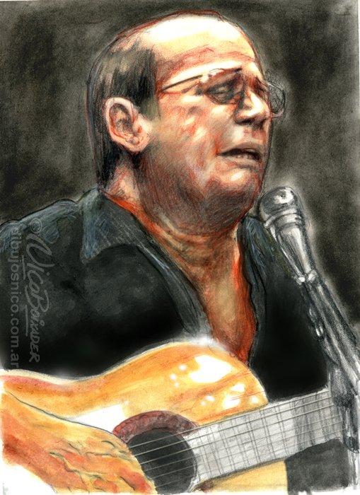 Ilustración Argentina retrato Silvio
