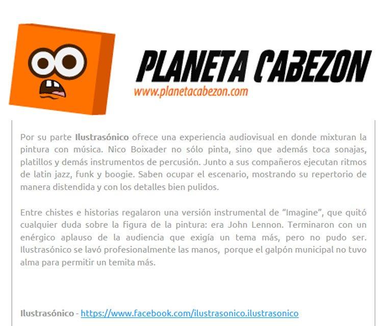 Crítica Ilustrasónico Planeta Cabezón