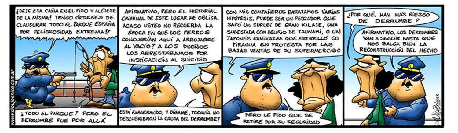 Humor Gráfico Concejal policia