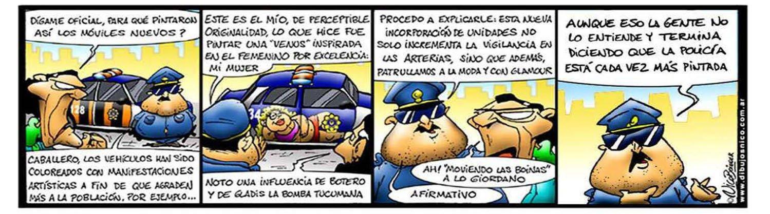 Humor Gráfico Concejal policial